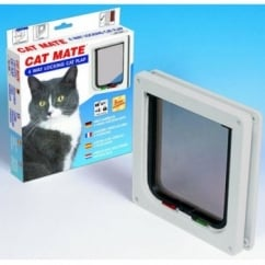 Cat Mate New 4 Way Locking Cat Flap - White