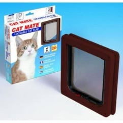 Pet Mate Cat Mate New Lockable Cat Flap 304 - Brown