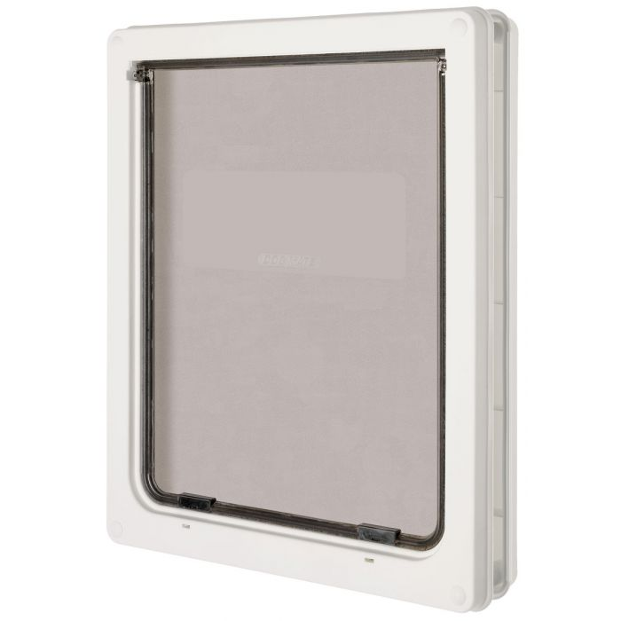 Pet Mate Large Dog Flap 216w White Feedem