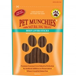 Pet Munchies Beef Liver Sticks Dog Treat 90g