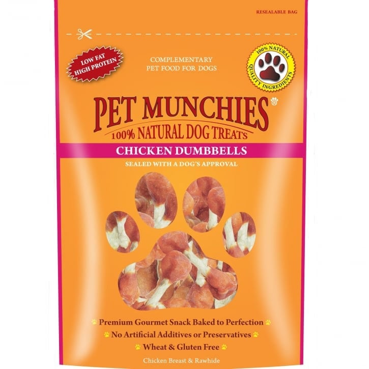 Pet Munchies Chicken Dumbbells Dog Treat 80g