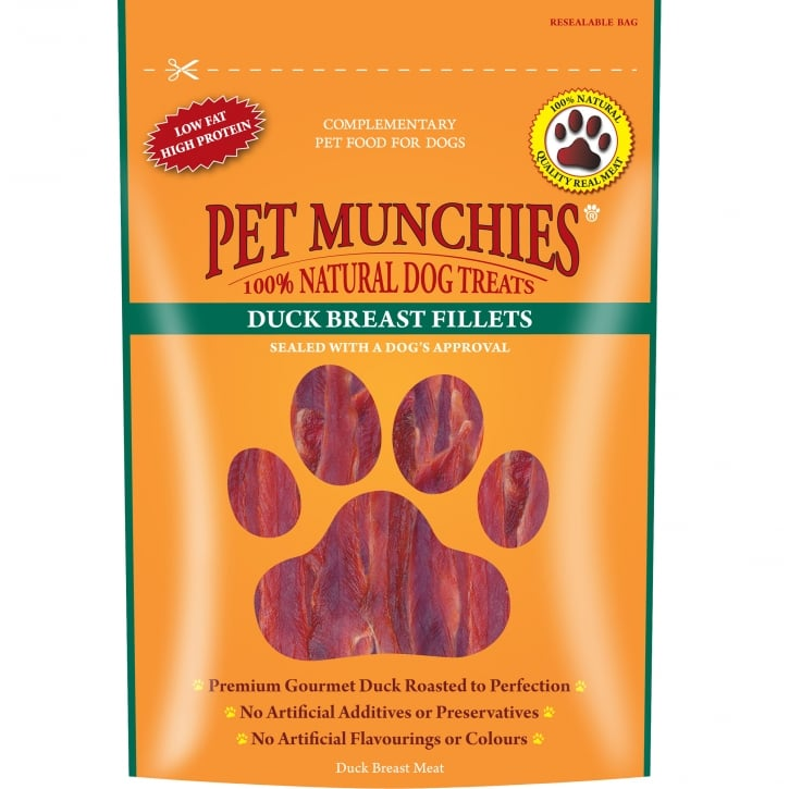 Pet Munchies Duck Breast Fillets Dog Treat 80g