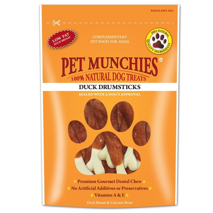 Pet Munchies Duck Drumsticks Dog Treat 100g