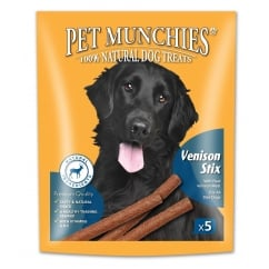 Pet Munchies Gourmet Venison Stix Dog Treat 50g