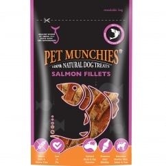 Pet Munchies Salmon Fillets Dog Treat 90g