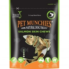 Salmon Skin Chew Dog Treats 125g