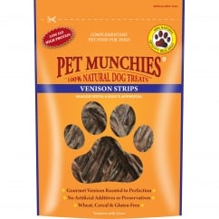 Pet Munchies Venison Strips Dog Treat 75g