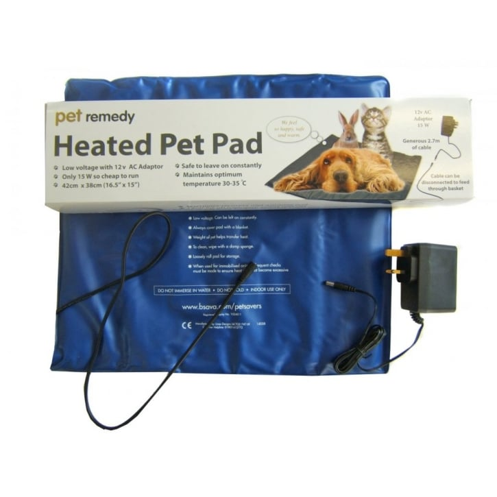 Pet Remedy Heated Pad for Dogs, Cats etc
