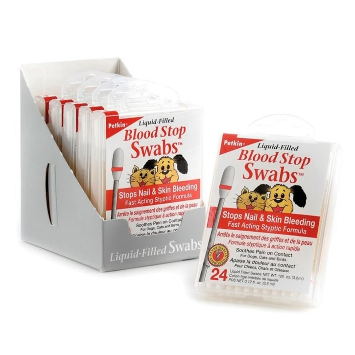 Petkin Blood Stop Swabs 24pk
