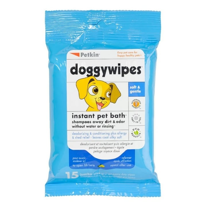 Petkin Doggy Wipes 15pk