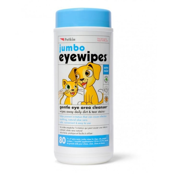 Petkin Jumbo Eye Wipes 80pk