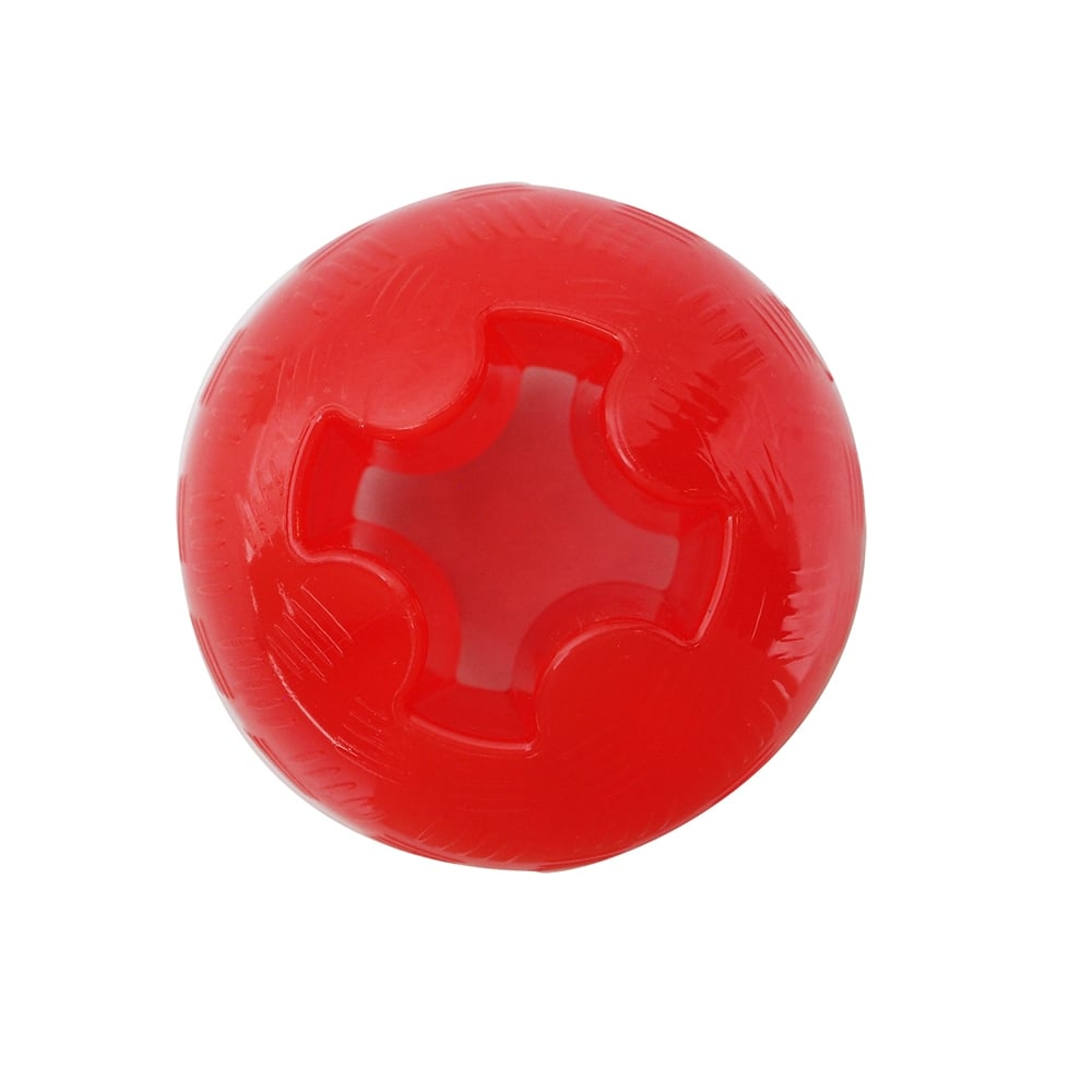 Rubber Ball Dog Toy : Petlove mighty mutts rubber ball large tough dog toy feedem