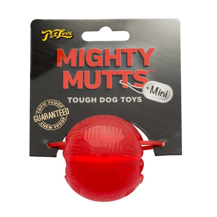 PetLove Mighty Mutts Rubber Ball Mini Tough Dog Toy