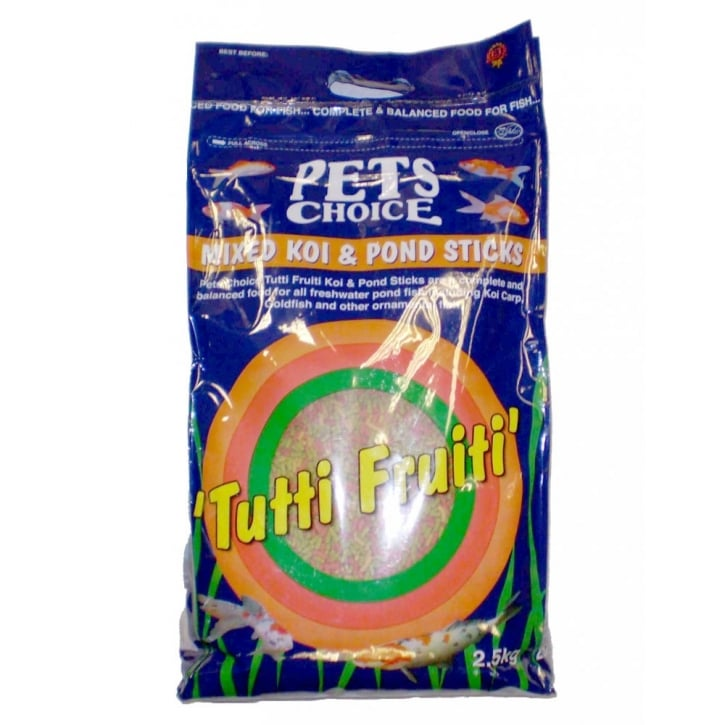 Pets choice tutti frutti mixed koi pond sticks for Koi pond sticks