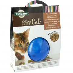 SlimCat Food-Dispensing Cat Toy Blue