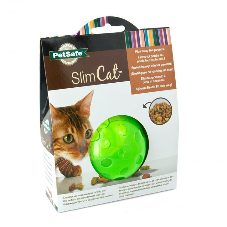PetSafe SlimCat Food-Dispensing Cat Toy Green