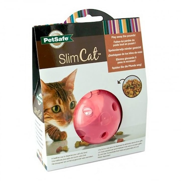 PetSafe SlimCat Food-Dispensing Cat Toy Pink