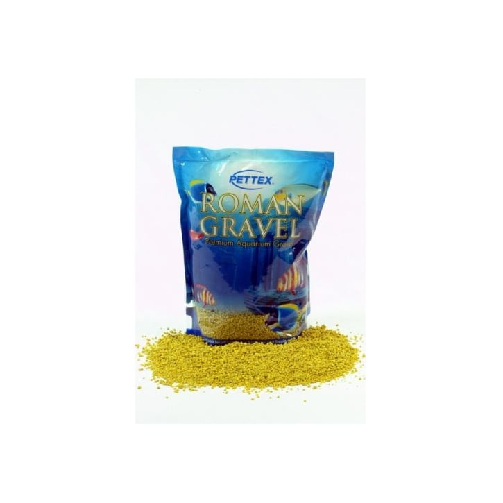 Pettex Roman Aquarium Gravel - Lemon Zest 2kg