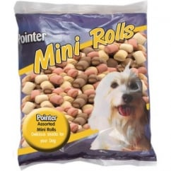 Pointer Assorted Mini Roll Biscuits 500gm