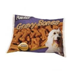 Pointer Gravy Dipped Dog Biscuit Bones 2kg