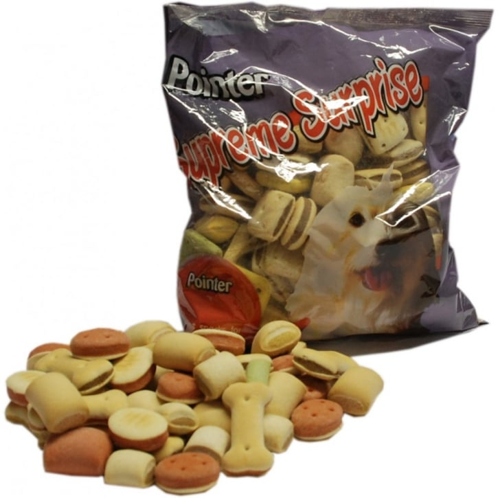 Pointer Supreme Surprise Dog Biscuits 500gm
