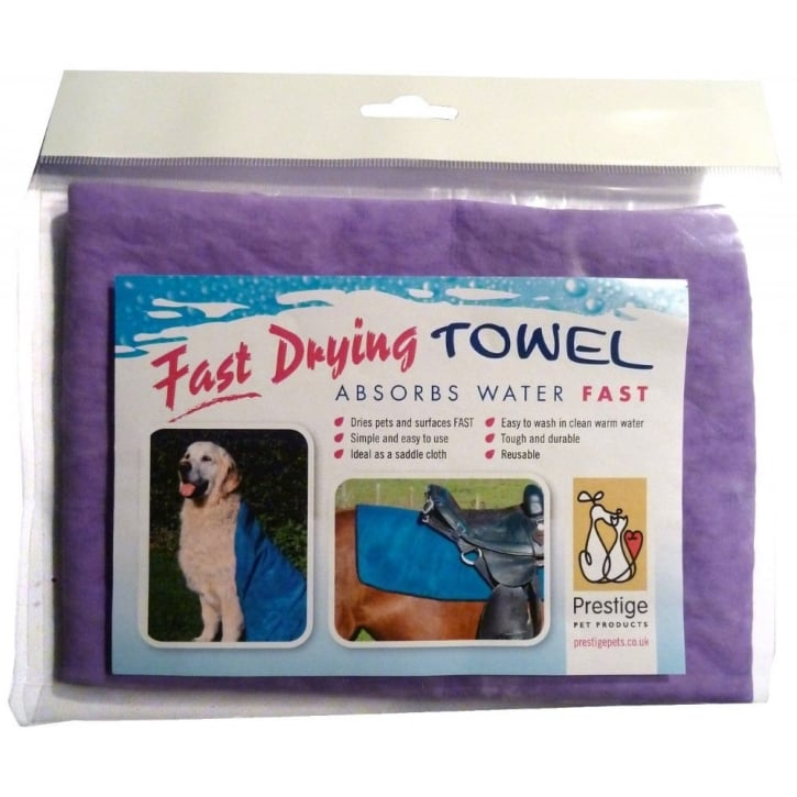 Prestige Pet Prestige Fast Drying Pet Towel Purple Medium