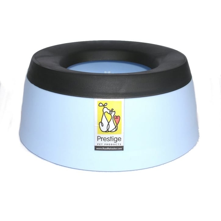 Prestige Pet Road Refresher Non-spill Dog Water Bowl Blue - Large