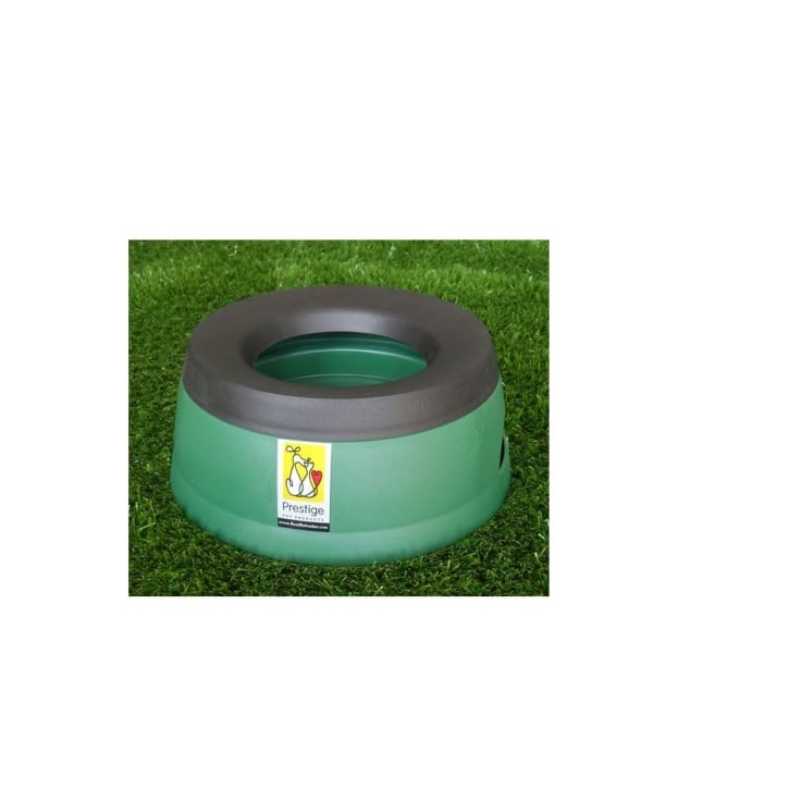 Prestige Pet Road Refresher Non-spill Dog Water Bowl Green - Large