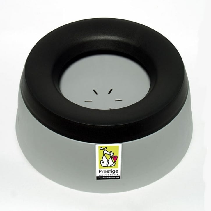 Prestige Pet Road Refresher Non-spill Dog Water Bowl - Large - Grey