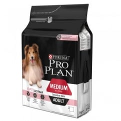 Pro Plan Medium Adult Dog for Sensitive Skin with OPTIDERMA in Salmon 3kg
