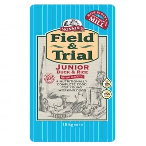 Skinner's Field & Trial Junior Duck & Rice Dog Food 15kg