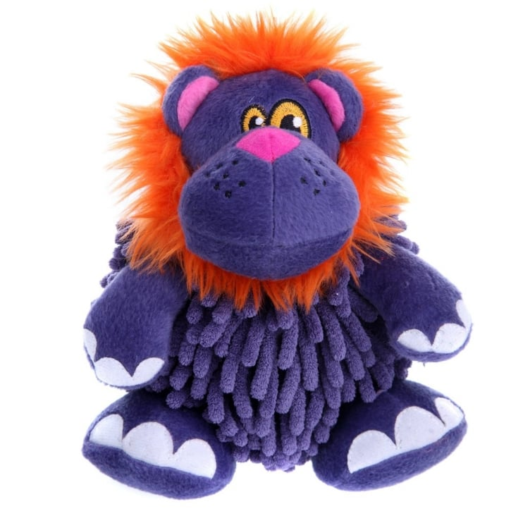 Quaker Pet Group Go Dog Mopz Purple Lion Chew Guard Dog Toy Large