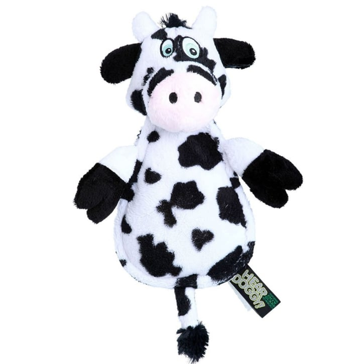 Quaker Pet Group Hear Doggy Chew Guard Flat Cow Plush Dog Toy
