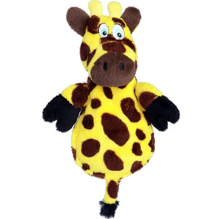 Quaker Pet Group Hear Doggy Chew Guard Flat Giraffe Plush Dog To