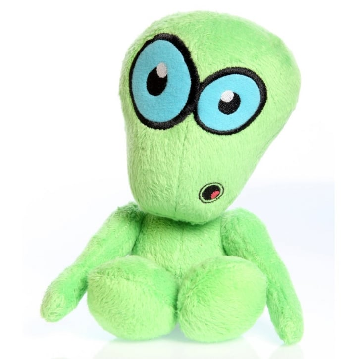 Quaker Pet Group Hear Doggy Chew Guard Martian Green Plush Dog Toy Small