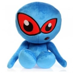 Hear Doggy Chew Guard Martians Plush Dog Toy Small Blue