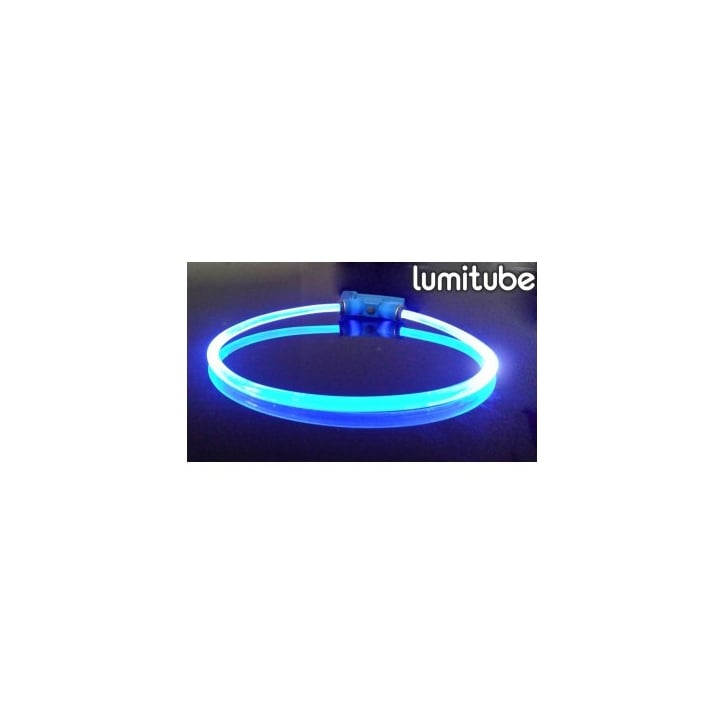 Red Dingo Lumitube Light Up Dog Collar - Blue - Small/Medium