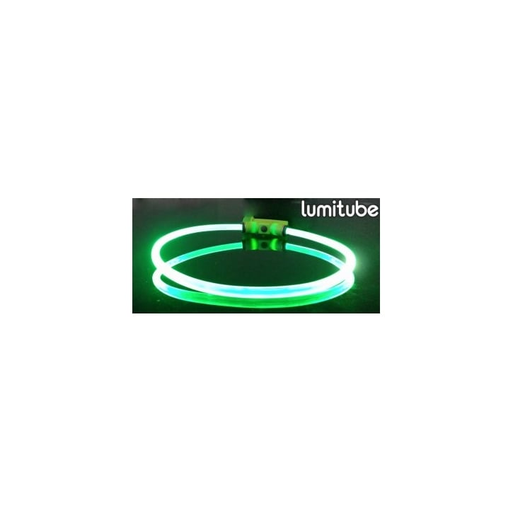 Red Dingo Lumitube Light Up Dog Collar - Green - Small/Medium