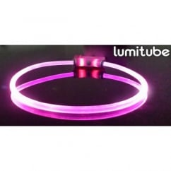 Lumitube Light Up Dog Collar, Purple - Small/Medium
