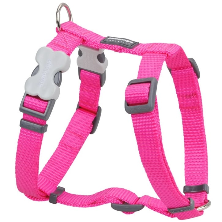 Red Dingo Classic Plain Nylon Dog Harness Hot Pink Small