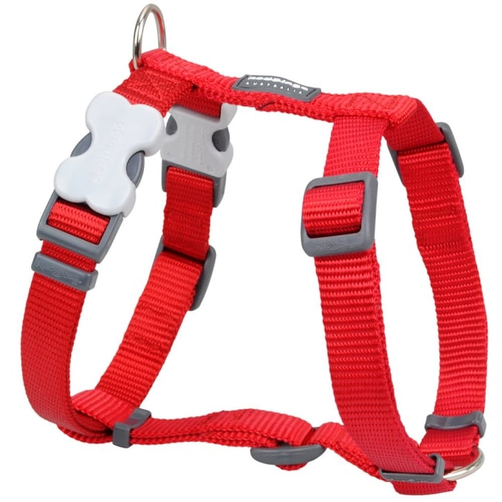 Red Dingo Classic Plain Nylon Dog Harness Red Large