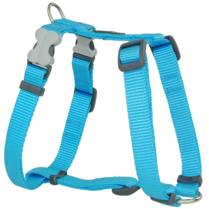 Red Dingo Classic Plain Nylon Dog Harness Turquoise Small