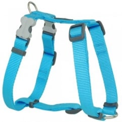 Classic Plain Nylon Dog Harness Turquoise Small