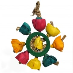 Boredom Breaker Blossom Ring Large/Medium Bird Toy