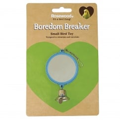 Boredom Breaker Budgie & Canary Double Mirror with Bell