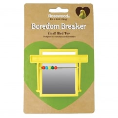 Boredom Breaker Budgie & Canary Perch Mirror With Beads