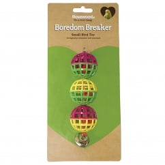Boredom Breaker Lattice Bird Balls with Bell Pack 3