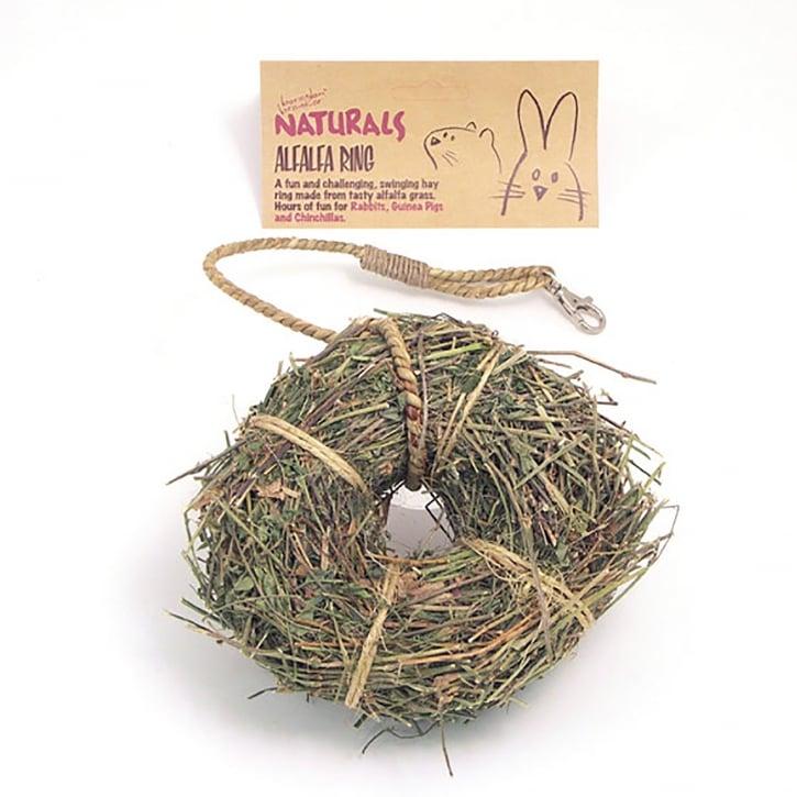 Rosewood Boredom Breaker Naturals Alfalfa Ring For Small Animals