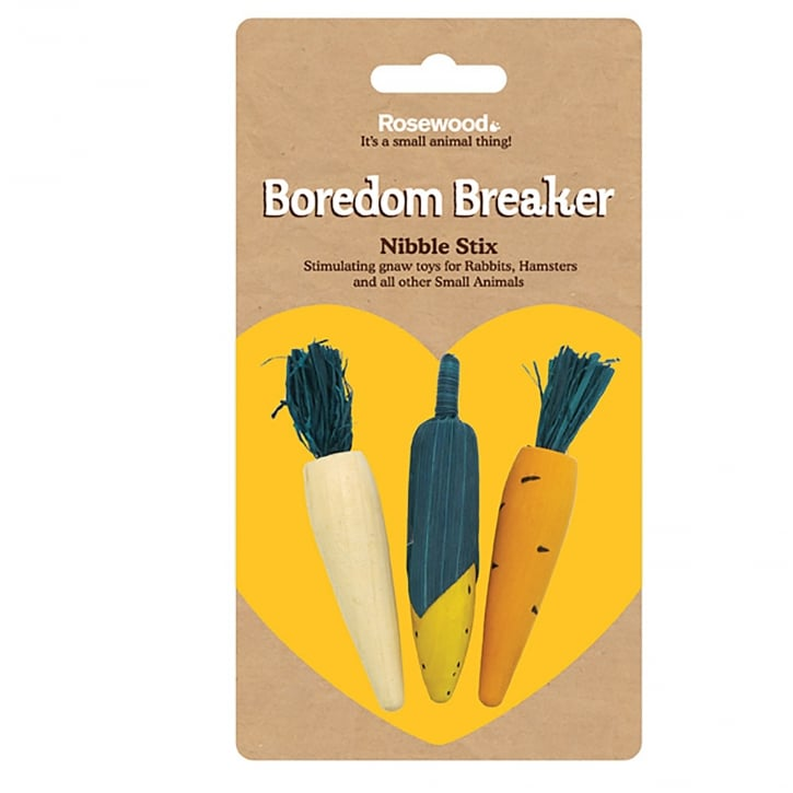 Rosewood Boredom Breaker Woodies 3D Veg Nibble Stix Gnaws
