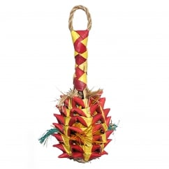 Boredom Breaker Woven Wonders Foraging Pineapple Large Bird Toy